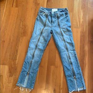 Mother superior zip jeans